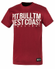 "T-shirt PIT BULL ""BUSINESS US USUAL"" bordowy"