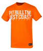 "T-shirt PIT BULL ""BUSINESS US USUAL"" pomararańczowy"