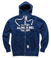 "Bluza ALPHA INDUSTRIES ""FLIGHT TRAINING"" granatowa rozpinana"