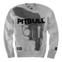 "Bluza PIT BULL ""TRAY EIGHT"" szara prosta"