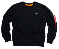 "Bluza ALPHA INDUSTRIES ""X-FIT"" czarna prosta"