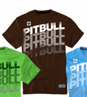 "T-shirt PIT BULL ""HILLSDALE'' brązowy"