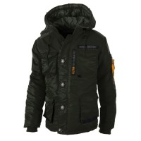 "Kurtka parka PIT BULL ""WORLD EXPEDITION 2"" oliwkowa"