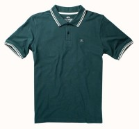 "Polo ALPHA INDUSTRIES ""TWIN STRIPE POLO II"" ciemno-zielone"