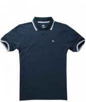 "Polo ALPHA INDUSTRIES ""TWIN STRIPE POLO II"" granatowo-białe"