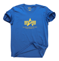 "T-shirt ALPHA INDUSTRIES ""BASIC"" niebieski"