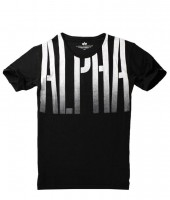 "T-shirt ALPHA INDUSTRIES ""OUT T"" czarny"