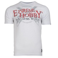 "T-shirt EXTREME HOBBY ""DONT MESS"" biały"