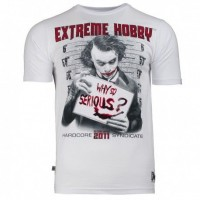 """T-shirt EXTREME HOBBY """"WHY SO SERIOUS"""" biały"""