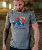 """T-shirt PGWEAR """"BAND OF BROTHERS"""" szary"""