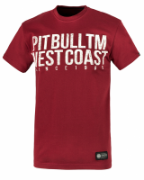 """T-shirt PIT BULL """"BUSINESS US USUAL"""" bordowy"""