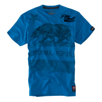 "T-shirt PIT BULL ""CALIFORNIA FLAG"" niebieski"