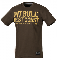 "T-shirt PIT BULL ""WAR DOG"" brązowy"