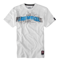 "T-shirt PIT BULL ""WELCOME TO GANGLAND"" biały"