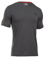 """T-shirt UNDER ARMOUR """"LEFT CHEST LOCKUP"""" szary"""