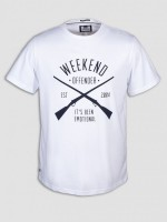 "T-shirt WEEKEND OFFENDER ""RIFLES"" biały"