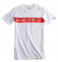 "T-shirt ALPHA INDUSTRIES ""RBFT"" biały"