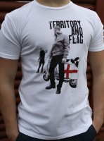 "T-shirt THREE STROKE ""TERRITORY & FLAG"" biały"