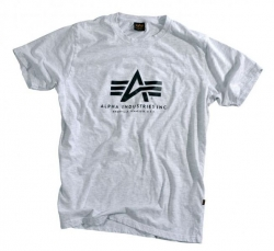 "T-shirt ALPHA INDUSTRIES ""BASIC"" szary"