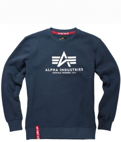"Bluza ALPHA INDUSTRIES ""BASIC"" granatowa prosta"