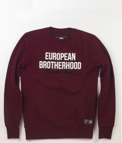 "Bluza EUROPEAN BROTHERHOOD ""IMPERIAL"" bordowa prosta"