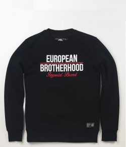 "Bluza EUROPEAN BROTHERHOOD ""IMPERIAL"" czarna prosta"