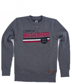 "Bluza EUROPEAN BROTHERHOOD ""NATION"" szara prosta"