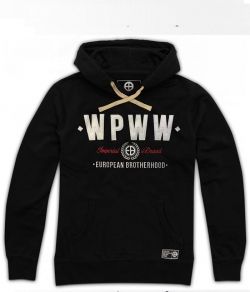 "Bluza EUROPEAN BROTHERHOOD ""WPPW"" czarna kaptur"