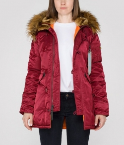 "Damska kurtka ALPHA INDUSTRIES ""N3B VF 59 WMN"" bordowa (burgundy)"