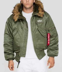 "Kurtka ALPHA INDUSTRIES ""45 P HOODED"" oliwkowa (sage green)"