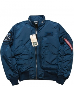 "Kurtka ALPHA INDUSTRIES ""ENGINE"" niebieska (bold blue)"
