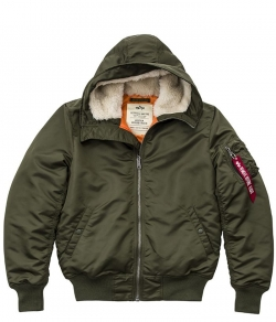 "Kurtka ALPHA INDUSTRIES ""MA-1 HOODED"" ciemnozielona (dark green)"