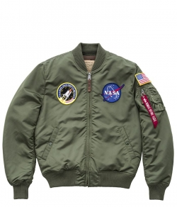 "Kurtka ALPHA INDUSTRIES ""MA-1 VF NASA"" oliwkowa (sage green)"