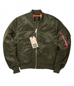 "KURTKA ALPHA INDUSTRIES ""MA-1 VF PM"" ciemnozielona"