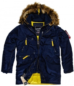 "Kurtka ALPHA INDUSTRIES ""PPS N3B"" niebieska (rep.blue)"