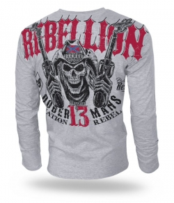 "Longsleeve Dobermans ""REBELLION"" LS165 szary"
