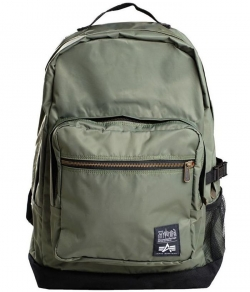 "Plecak ALPHA INDUSTRIES & MANHATTAN PORTAGE ""CITY LIGHTS"" oliwkowy"