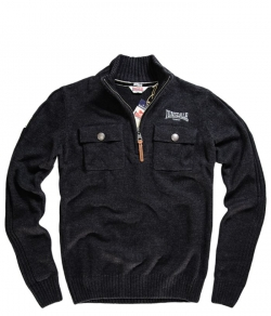 "Sweter LONSDALE ""NEWINGTON"" grafitowy"