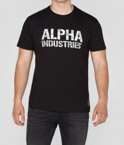 "T-shirt ALPHA INDUSTRIES ""CAMO PRINT T"" czarny"