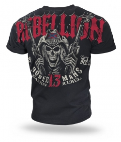 "T-shirt DOBERMANS ""REBELLION"" TS165 czarny"