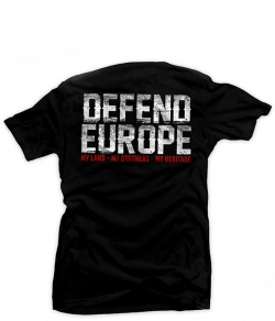 "T-shirt EUROPEAN BROTHERHOOD ""DEFEND EUROPE"" czarny, Zdjęcie 1"