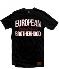 "T-shirt EUROPEAN BROTHERHOOD ""IMPERIAL BRAND"" czarny"