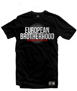 "T-shirt EUROPEAN BROTHERHOOD ""PRO BORDER PRO NATION"" czarny"