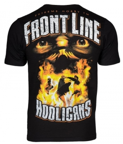 "T-shirt EXTREME HOBBY ""FRONT LINE HOOLIGANS"" czarny"