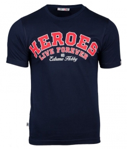 "T-shirt EXTREME HOBBY ""HEROES"" granatowy"