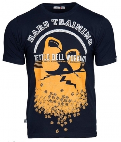 "T-shirt EXTREME HOBBY ""KETTLEBELL"" granatowy"
