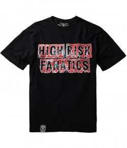 "T-shirt FUCK THE FAME ""HIGH RISK"" czarny"