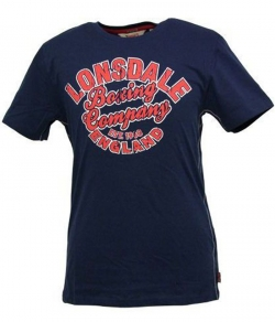 "T-shirt LONSDALE ""FUFUS"" granatowy"