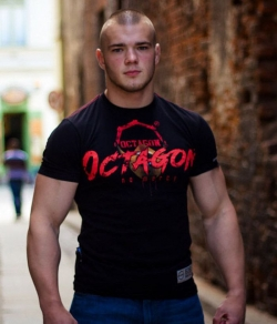 "T-shirt OCTAGON ""NO MERCY"" czarny"
