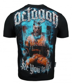 "T-shirt OCTAGON ""SEE YOU IN HELL"" czarny, Zdjęcie 1"